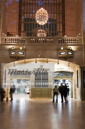 Entrance to Train Tracks, Grand Central Station, Manhattan, New York City, New York, USA Stock Photo - Rights-Managed, Image code: 700-03069099