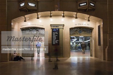 Entrance to Train Tracks, Grand Central Station, Manhattan, New York City, New York, USA Stock Photo - Rights-Managed, Image code: 700-03069100
