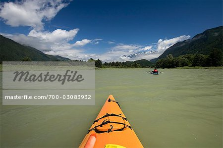 Kayakers on Klinaklini River, British Columbia, Canada Stock Photo - Rights-Managed, Image code: 700-03083932
