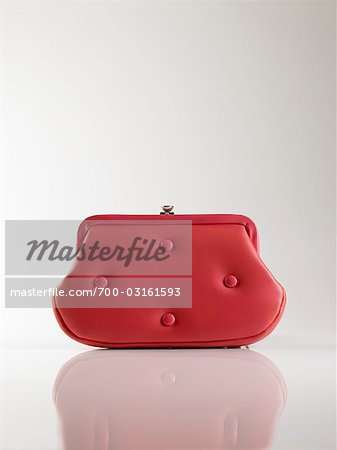 Vintage Red Leather Purse Stock Photo - Rights-Managed, Image code: 700-03161593