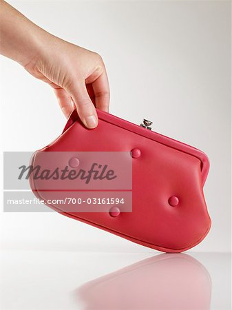 Woman Holding Vintage Red Leather Purse Stock Photo - Rights-Managed, Image code: 700-03161594