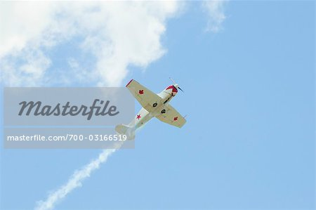 Airplane doing Aerobatics in Air Show, Olympia, Washington, USA