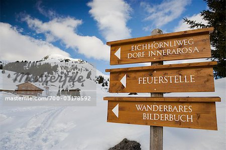 Wooden Sign, Arosa, Switzerland
