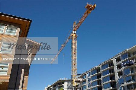 Apartment Buildings Under Construction, Vancouver, British Columbia, Canada