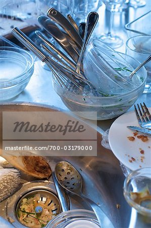 Dirty Dishes in Kitchen Sink Stock Photo - Rights-Managed, Image code: 700-03179000