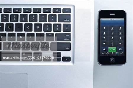 Still Life of iPhone and Laptop Computer Stock Photo - Rights-Managed, Image code: 700-03179008