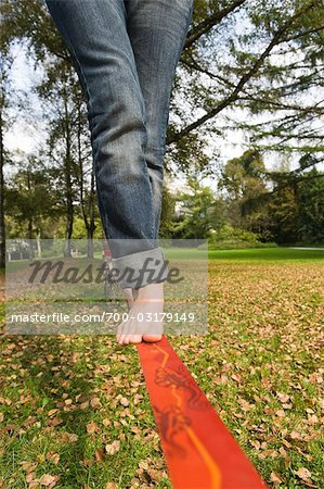 Woman on Slackline Stock Photo - Rights-Managed, Image code: 700-03179149
