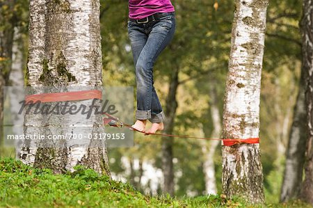 Woman Slacklining Stock Photo - Rights-Managed, Image code: 700-03179153