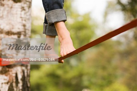 Woman on Slackline Stock Photo - Rights-Managed, Image code: 700-03179164