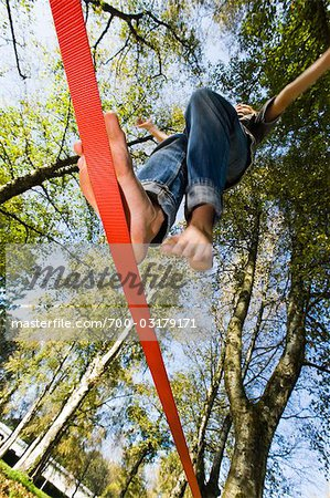 Boy Slacklining Stock Photo - Rights-Managed, Image code: 700-03179171
