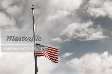 American Flag at Half Mast Stock Photo - Rights-Managed, Image code: 700-03210479