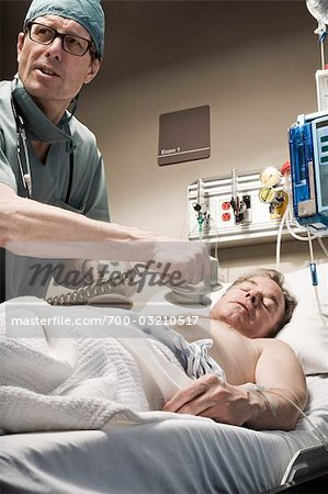 Emergency Room Doctor and Patient Stock Photo - Rights-Managed, Image code: 700-03210517