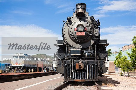 Historic Steam Train, Grand Canyon Railroad, Williams, Arizona, USA Stock Photo - Rights-Managed, Image code: 700-03230050