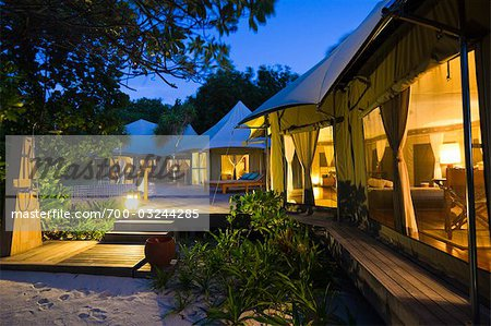 Tent Villa at Banyan Tree Madivaru, Alif Alif Atoll, Maldives Stock Photo - Rights-Managed, Image code: 700-03244285