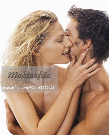 Close-up of Nude Couple Embracing Stock Photo - Rights-Managed, Image code: 700-03290111