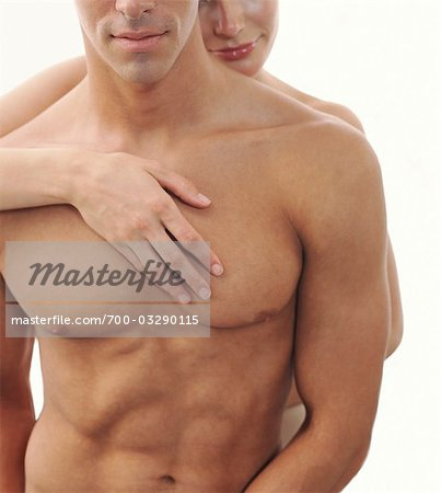 Close-up of Nude Couple, Man's Torso Stock Photo - Rights-Managed, Image code: 700-03290115