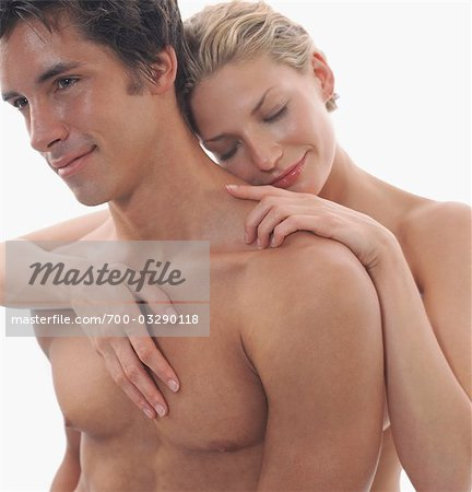Close-up of Nude Couple Embracing Stock Photo - Rights-Managed, Image code: 700-03290118