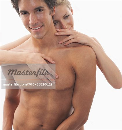 Close-up of Nude Couple, Man's Torso Stock Photo - Rights-Managed, Image code: 700-03290119