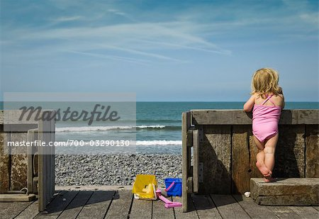 Girl Looking at Ocean Stock Photo - Rights-Managed, Image code: 700-03290130