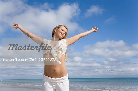 Woman on the Beach Stock Photo - Rights-Managed, Image code: 700-03290272