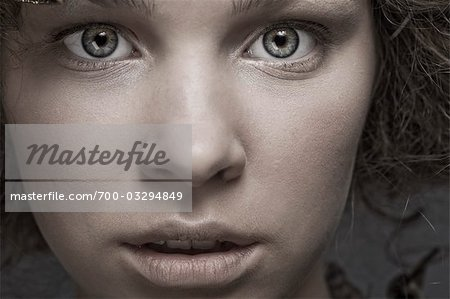 Close Up of Teenage Girl's Face Stock Photo - Rights-Managed, Image code: 700-03294849