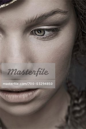 Close Up of Teenage Girl's Face Stock Photo - Rights-Managed, Image code: 700-03294850