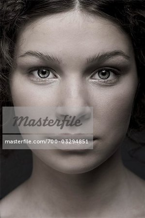 Close Up of Teenage Girl's Face Stock Photo - Rights-Managed, Image code: 700-03294851