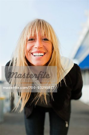 Portrait of Woman on Pier in Santa Cruz, California, USA Stock Photo - Rights-Managed, Image code: 700-03295027