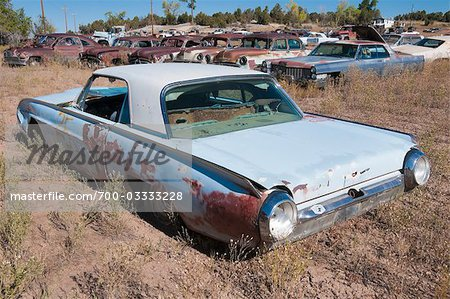 Vintage Cars in Old Junk Yard, Colorado, USA Stock Photo - Rights-Managed, Image code: 700-03333228