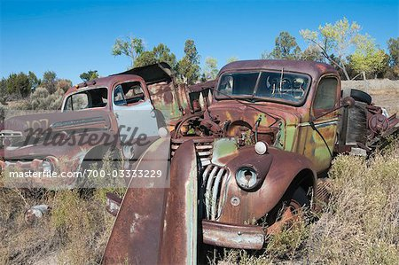 Vintage Pickup Trucks in Old Junk Yard, Colorado, USA Stock Photo - Rights-Managed, Image code: 700-03333229