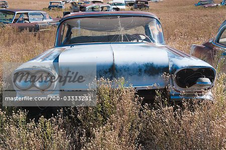 Vintage Cars in Old Junk Yard, Colorado, USA Stock Photo - Rights-Managed, Image code: 700-03333231