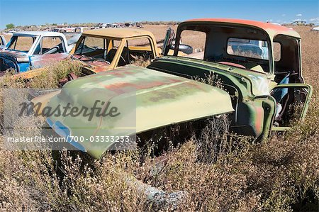 Vintage Pickup Trucks in Old Junk Yard, Colorado, USA Stock Photo - Rights-Managed, Image code: 700-03333233