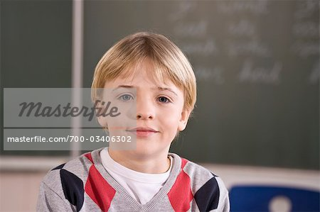 Portrait of Schoolboy Stock Photo - Rights-Managed, Image code: 700-03406302