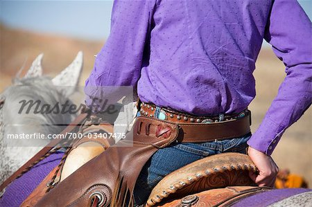 Cowgirl Riding Quarter Horse, Wyoming, USA Stock Photo - Rights-Managed, Image code: 700-03407475