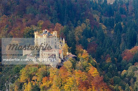 Hohenschwangau Castle in Autumn, Hohenschwangau, Schwangau, Ostallgau, Allgau, Bavaria, Germany Stock Photo - Rights-Managed, Image code: 700-03407756