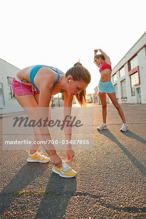 Women Getting Ready for Run Stock Photo - Rights-Managed, Image code: 700-03407855