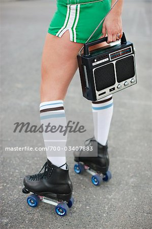 Woman Roller Skating Stock Photo - Rights-Managed, Image code: 700-03407883