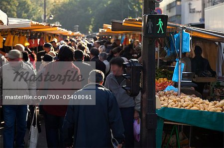 Market, Paris, Ile-de-France, France Stock Photo - Rights-Managed, Image code: 700-03408061