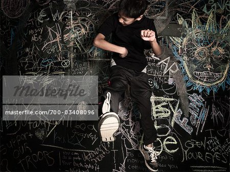 Boy Jumping Stock Photo - Rights-Managed, Image code: 700-03408096