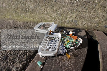 Broken Cell Phone Stock Photo - Rights-Managed, Image code: 700-03439592