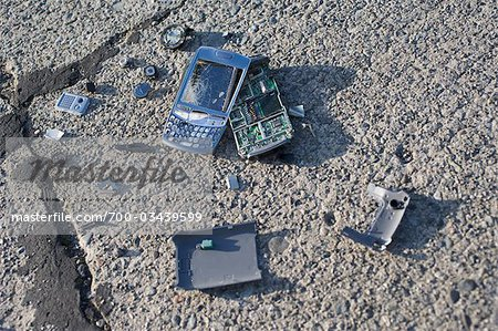 Broken Cell Phone Stock Photo - Rights-Managed, Image code: 700-03439599