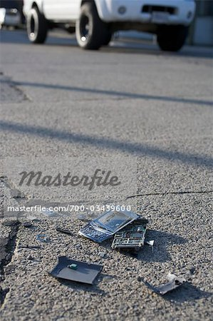 Broken Cell Phone Stock Photo - Rights-Managed, Image code: 700-03439600