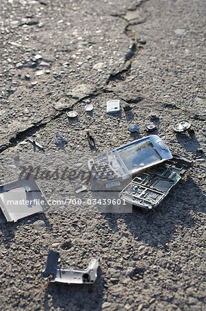 Broken Cell Phone Stock Photo - Rights-Managed, Image code: 700-03439601