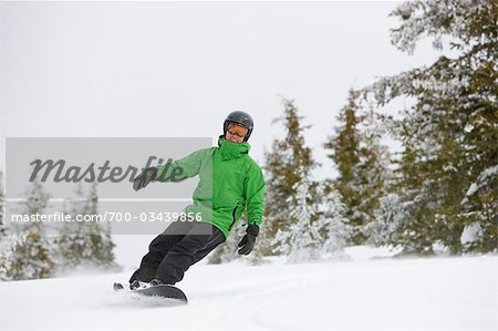 Snowboarder near Steamboat Springs, Colorado, USA Stock Photo - Rights-Managed, Image code: 700-03439856