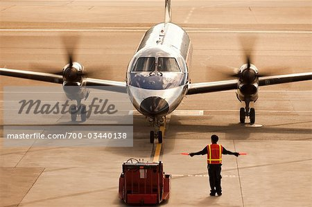 Small Plane at San Francisco International Airport, San Francisco, California, USA Stock Photo - Rights-Managed, Image code: 700-03440138