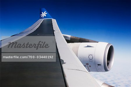 Airplane over Tahiti, French Polynesia, Oceania Stock Photo - Rights-Managed, Image code: 700-03440192