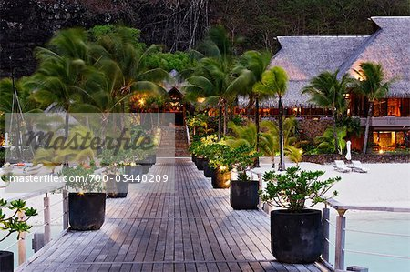 Bora Bora Nui Resort, Bora Bora, Tahiti, French Polynesia Stock Photo - Rights-Managed, Image code: 700-03440209
