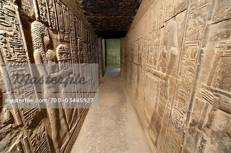 Hallway with Hieroglyphs, Abydos, Egypt Stock Photo - Rights-Managed, Image code: 700-03445927