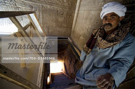 Portrait of Man Standing in Tomb, Abydos, Egypt Stock Photo - Rights-Managed, Image code: 700-03445946