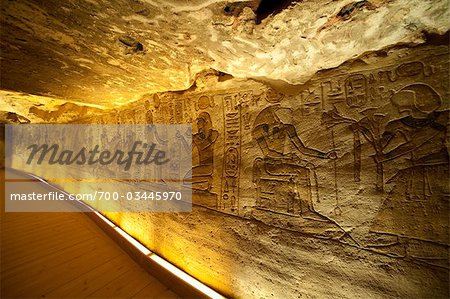 Interior of Temple of Hathor and Nefertari at Abu Simbel, Nubia, Egypt Stock Photo - Rights-Managed, Image code: 700-03445970